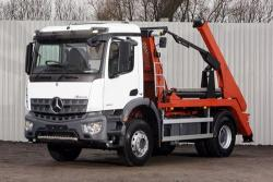 BRAND NEW Euro 6 2018 Mercedes Arocs 1824K, Hyva Skiploader with Sheeting System