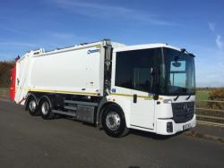 BRAND NEW Euro 6 2019 Mercedes Econic 2630, Olympus 23W, c/w Beta Trade Binlift