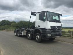 BRAND NEW Euro 6 2018 Mercedes Arocs 3240, Hyva Hookloader with Sheeting System