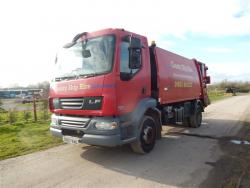 Euro 5 2007 15T,  DAF LF55 220, NTM K with NTM Bar Bin Lift