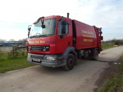 Euro 5 2010 15T,  DAF LF55 220, NTM K with NTM Bar Bin Lift