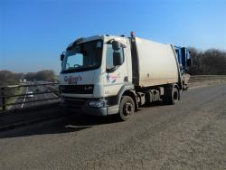 Euro 5 2013 12T DAF LF45 220, NTM K2K Maxi with NTM Bar Bin Lift