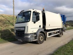 Euro 6 2015 15T DAF LF55 220, NTM K2K Maxi with NTM Bar Bin Lift