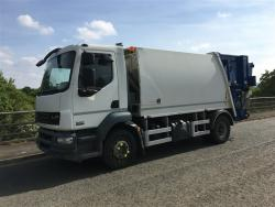 Euro 5 2013 16T DAF LF55 220, NTM K2K Maxi with NTM Bar Bin Lift