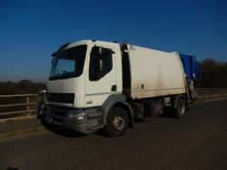 Euro 5 2013 15T DAF LF55 220, NTM K2K Maxi, with NTM Bar  Bin Lift