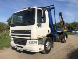 Euro 5 2014 DAF CF, Boughton Skiploader with Sheeting System