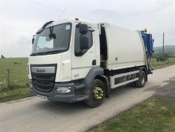 Euro 6 2015 15T DAF LF45 220, NTM K2K Maxi with NTM Bar Bin Lift