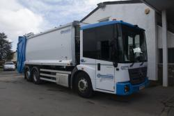Euro 6, 2016, Mercedes Econic, Dennis Olympus, with Terberg Omnidel Lift