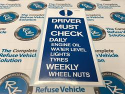 Driver Must Check Decal