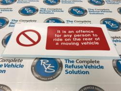 It is an Offence Decal (Rear Dennis cylinder cover)