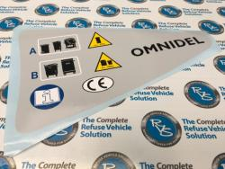 Omnidel Grey Panel Decal LH