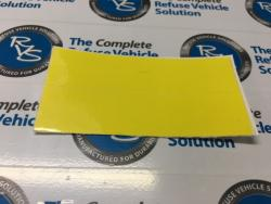 Label Stop Yellow