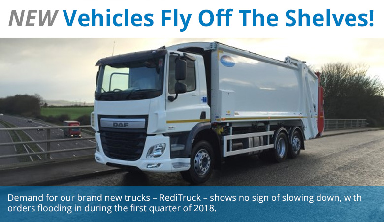 ThefirstREDITRUCK delivery in 2018 went to Leicestershire-based AE Burgess who purchased a new 26t Mercedes Econic Dennis Olympus, which we installed with bin-weighing, a camera recording system and reverse radar.