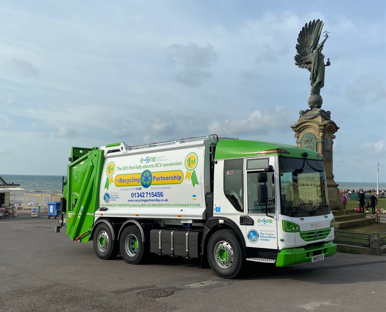 Brighton & Hove residents' recycling to be collected by UK's first complete electric repowered refuse truck